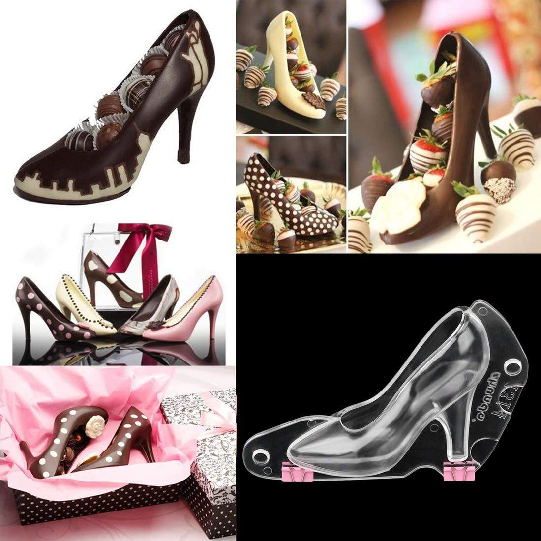 Zapatos de tacón Alto 3D Molde Pastel de Chocolate Fondant Cake Decorating Postre Fabricante de Bricolaje para la fabricación de Pastel de pudín de Jalea: ...