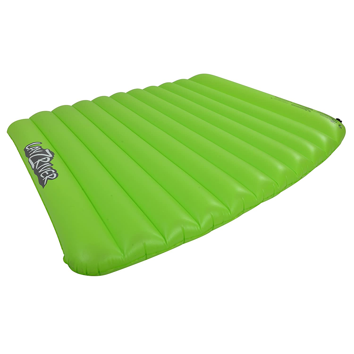 Blue Wave Sports Lay-Z-River 2-Person Lake Float Air Mattress, Green/Black RL1821