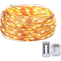 Battery Operated Fairy String Lights - 16.4FT Length 50LED Twinkle Firefly Lights with 8 Modes Remote Timer for Bedroom…