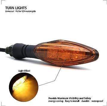 Universal Motorcycle Motorbike 12V Mini Indicator Blinker Turn Signal Light 2pcs