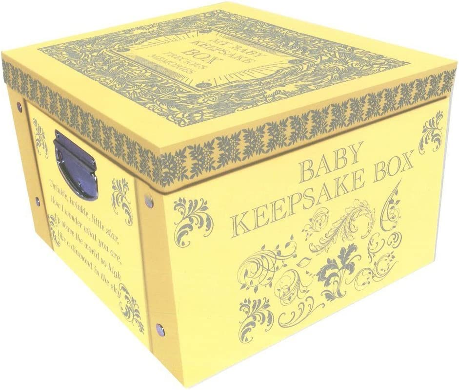 Robert Frederick Yellow My Baby Keepsake Box A Lifetime of Memories Large Collapsible Storage Box