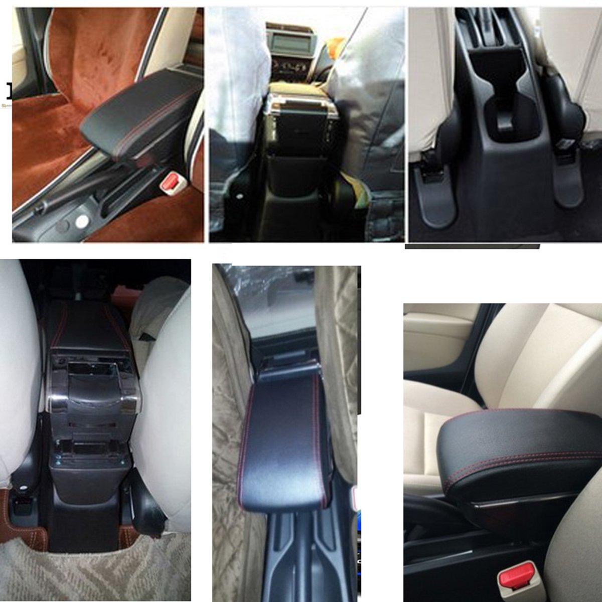 Compatibilit/é avec v/éhicules avec conduite /à gauche non garantie Autosunshine Accoudoir de voiture Boite de rangement centrale Cuir Pi/èce automobile int/érieure