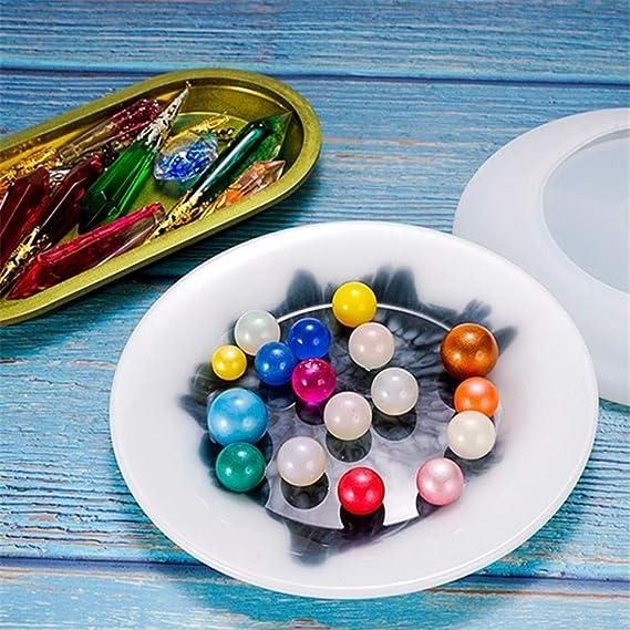 Moule en Silicone R/ésine /époxy Tray Dish Mold Bricolage Plateau Decoratif Moulle Plat Bijoux Moule Moulage Coaster Moules Faire Bijoux Plateau Ovale Chyuan Moule Resine Kit