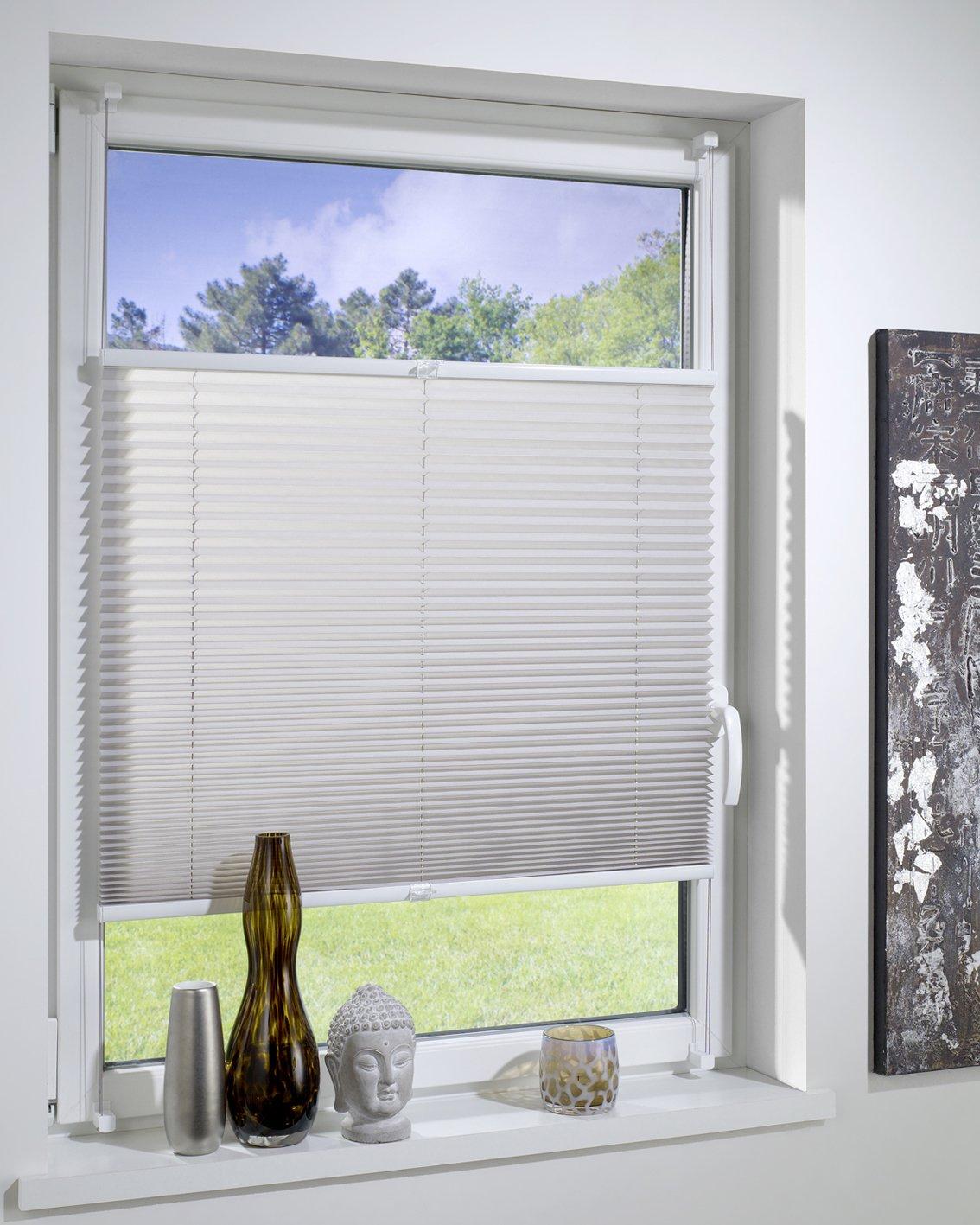 Charming Einfache Dekoration Und Mobel Farbig Und Flexibel Plissee Rollos 2 #6: Amazon.de: DecoProfi PLISSEE Grau, Verspannt, Breite 90cm X 220cm (max.  Gesamthöhe Fensterflügel)