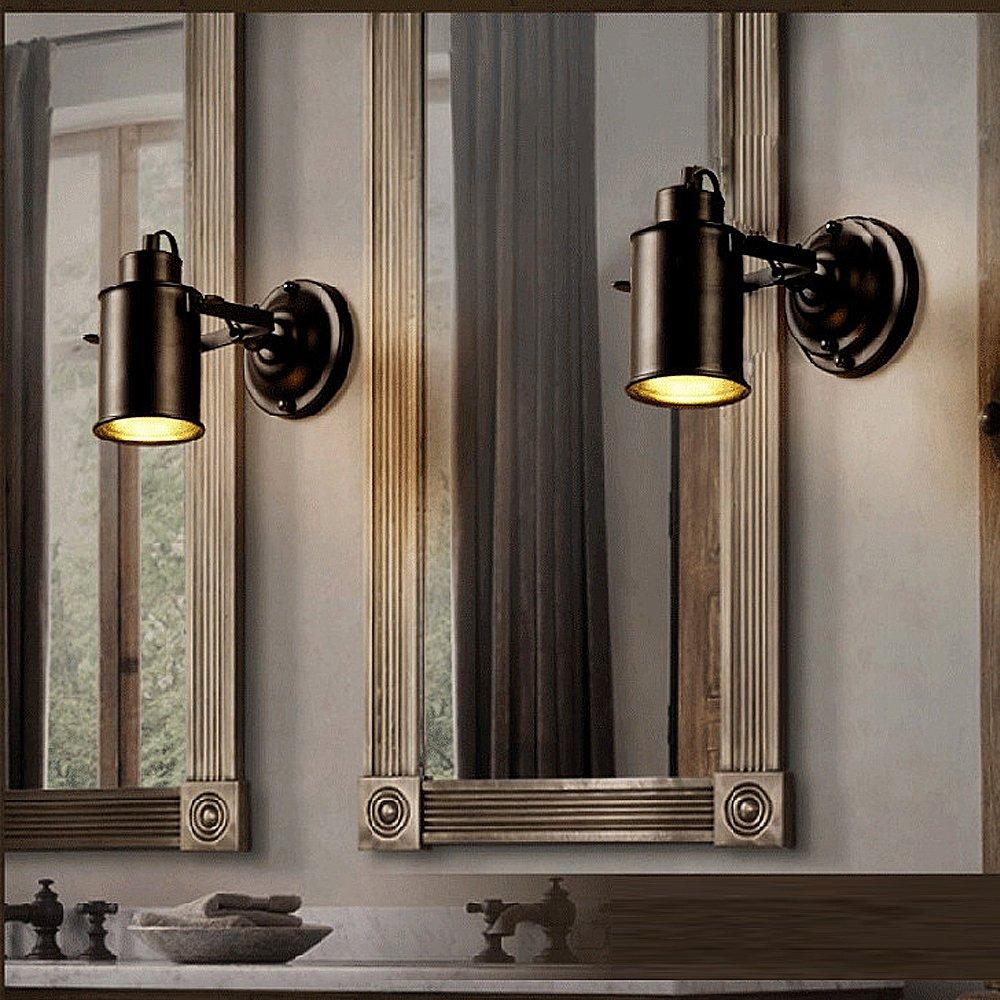BAYTTER Vintage E27 Wandlampe schwenkbare Flurlampe 7W LED warmweiß Strahler Industrielampe für Café Keller Bar Flur Küchen Büro Schlafzimmer