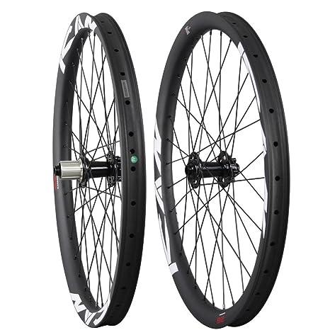 ICAN 26er 38 mm Carbono Clincher Tubeless Ready todos los para bicicleta de montaña ruedas 32