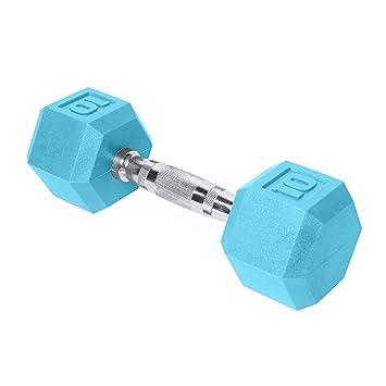 CAP Barbell Hex - Mancuernas (con Revestimiento de Color - SDR2-010, Individual, Azul Claro: Amazon.es: Deportes y aire libre
