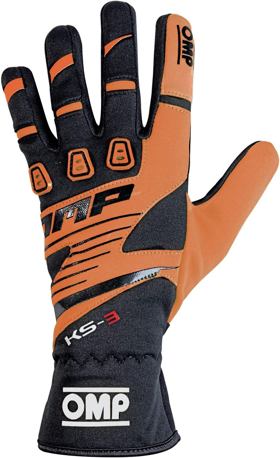 OMP KS-3 Karting Gloves Size XX-Small, Black//Orange