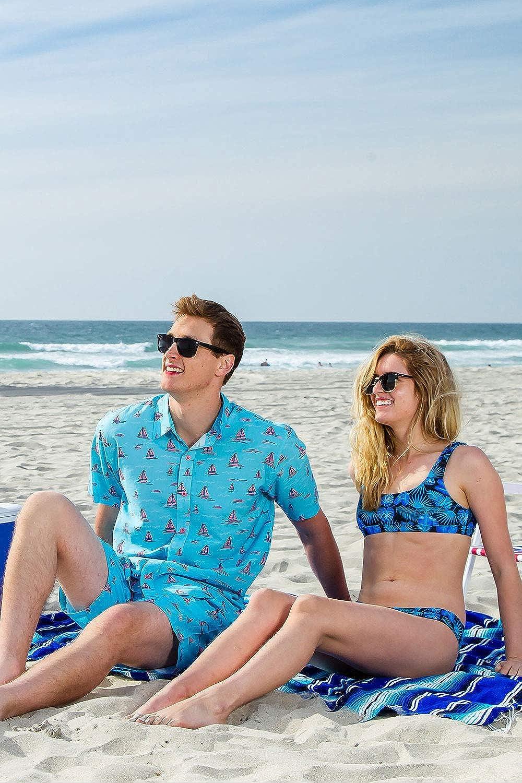 Mens Bright Hawaiian Shirts for Spring Break and Summer Aloha Shirt for Guys