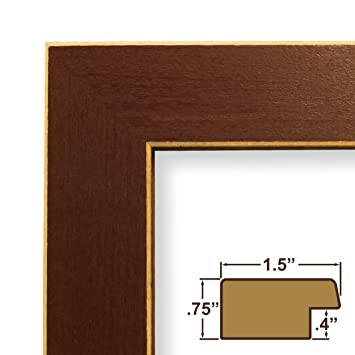 23x36 picture poster frame wood grain finish 15 wide red