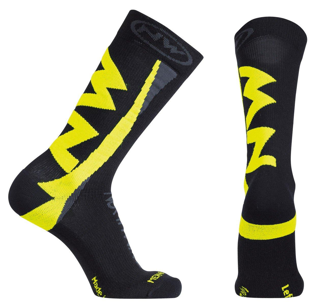 Northwave Extreme Winter High Socks - Black/Fluorescent Yellow - L