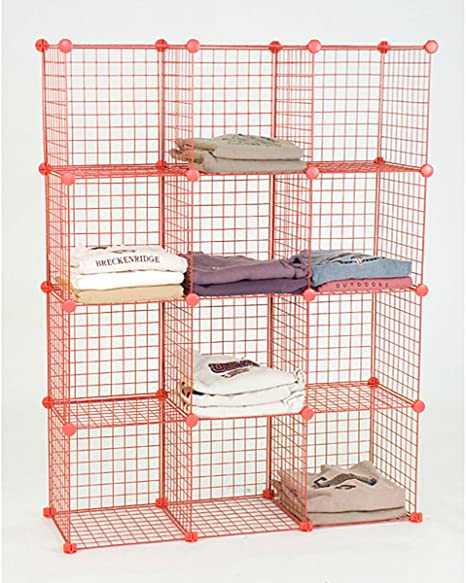 Mini Grid Shelf Unit Gridwall Panel Shelves Retail Display Fixture Red NEW