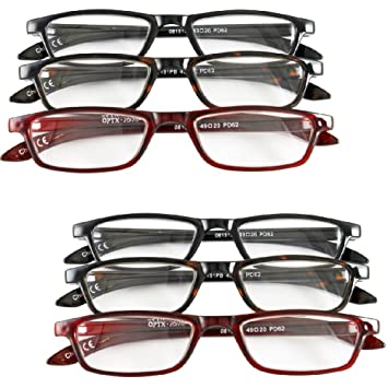 04d6f365f56 Amazon.com  (Set of 6) Magnifying Reading Glasses +3.0 - Half Eye ...