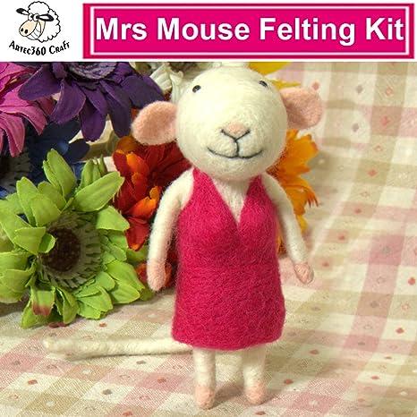 Foam Mat Finger Guards YSZ Rabbit Needle Felting Kits 10cm Needles Instruct