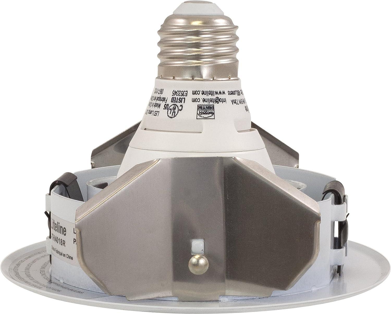 White Liteline HV4TH418R-WH-P203KFL 4-Inch LED Bulb and Trim Combo Kit with 8W Energy Star PAR20 LED Bulb and Gimbal Trim