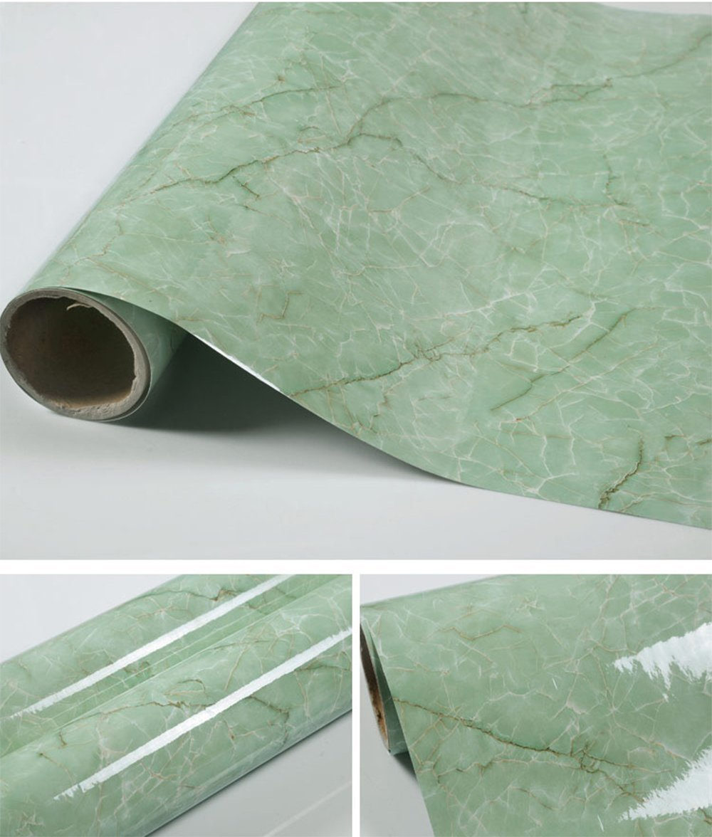 Selbstklebend Grün Marmor Getreide Kontakt Papier für Küche Tisch ...