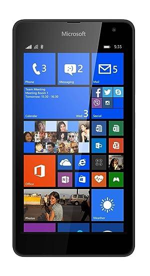 2498bd0308c Microsoft Lumia 535 5 inch UK SIM-Free Smartphone - Black (Qualcomm  Snapdragon 200