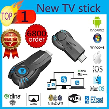MU Vensmile V5ii Mejor Smart TV palillo Ezcast miracast Dongle DLNA Airplay MirrorOp Para IOS Andriod sistema operativo Windows mejor que la TV androide: Amazon.es: Electrónica