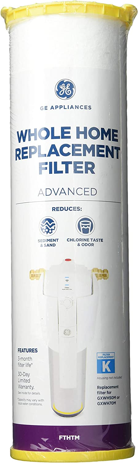 GE Appliances FTHTM GE Smart Water Filtration Advanced Replacement Whole Home Filter, White