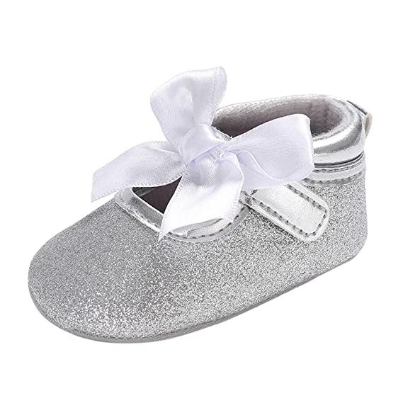 Rawdah- Neonato Scarpe-Bambino Bambina Soft Soft Culla Toddler Bowknot  Piccolo Casuale Scarpe Baby Shoes-Scarpette da Ballerina per Bambine   Amazon.it  ... bd1c683f1ed