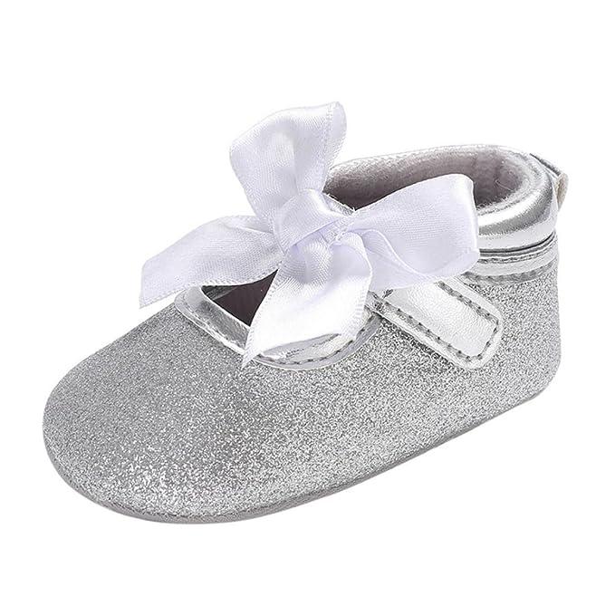 Rawdah- Neonato Scarpe-Bambino Bambina Soft Soft Culla Toddler Bowknot  Piccolo Casuale Scarpe Baby Shoes-Scarpette da Ballerina per Bambine   Amazon.it  ... 0c4f158a253