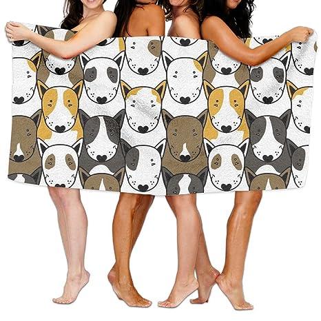 aymitao único Bull Terrier perro animales toalla de baño cómodo manopla de baño (resistente)