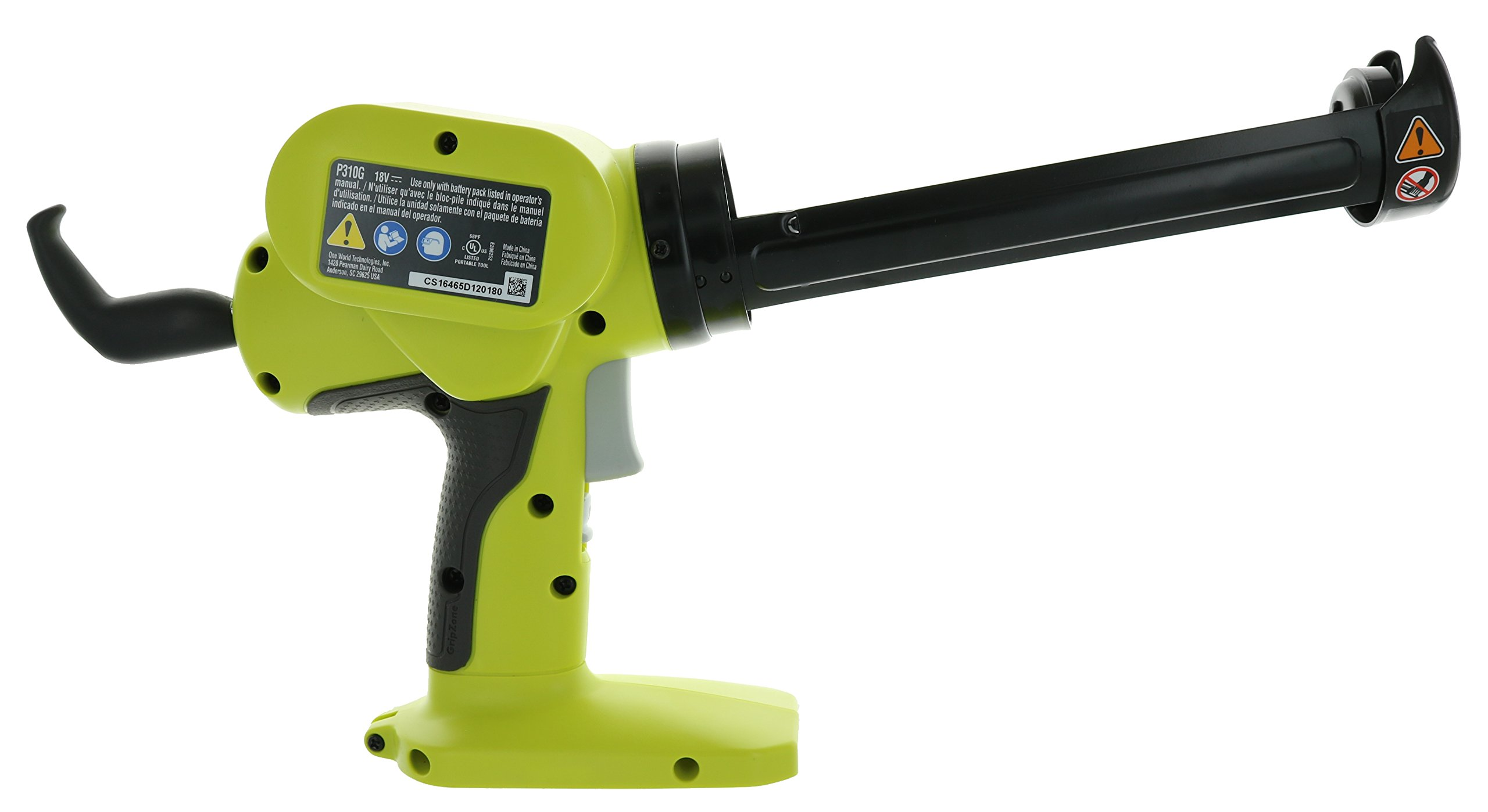 Ryobi P310G 18v Pistol Grip Variable Discharge Rate Power Caulk and Adhesive Gun (Tool Only, Holds 10 Ounce Carriage) by Ryobi (Image #2)