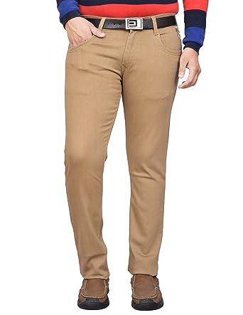 75c33eb3b26 British Terminal Beige Cotton Lycra Denim Stretchable Slim fit Stylish Men s  Jeans ...