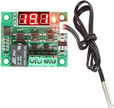 Dc 12v Temperature Controller Board Digital Heating Cooling Temp Control Switch Thermostat Thermometer With Waterproof Sensor Probe Relay 50 110 C Amazon Com