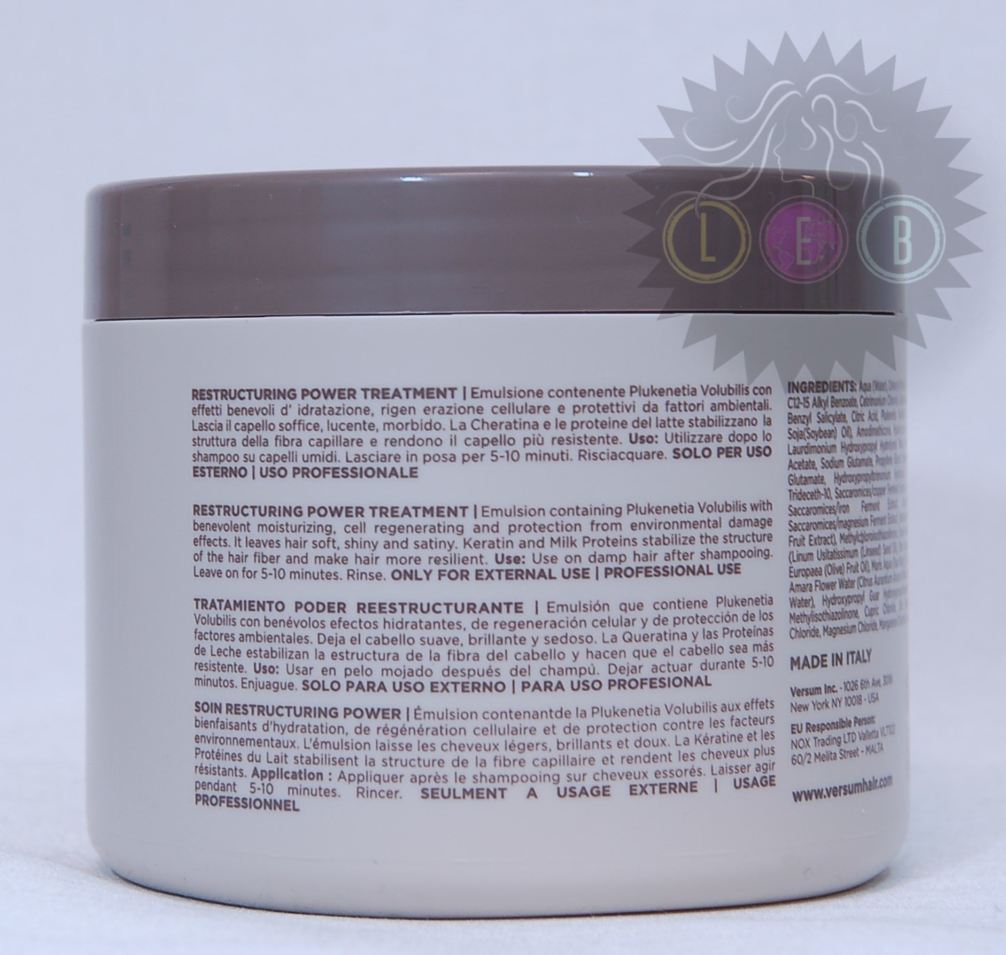 Amazon.com: VERSUM Restructuring Power Treatment For Fine& Damaged Hair 16.9oz.: Beauty