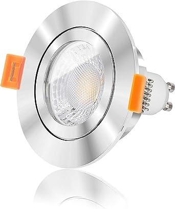 IP44 Einbaurahmen LED Einbaustrahler GU10 Einbauleuchte Einbauspot 57mm Bohrung