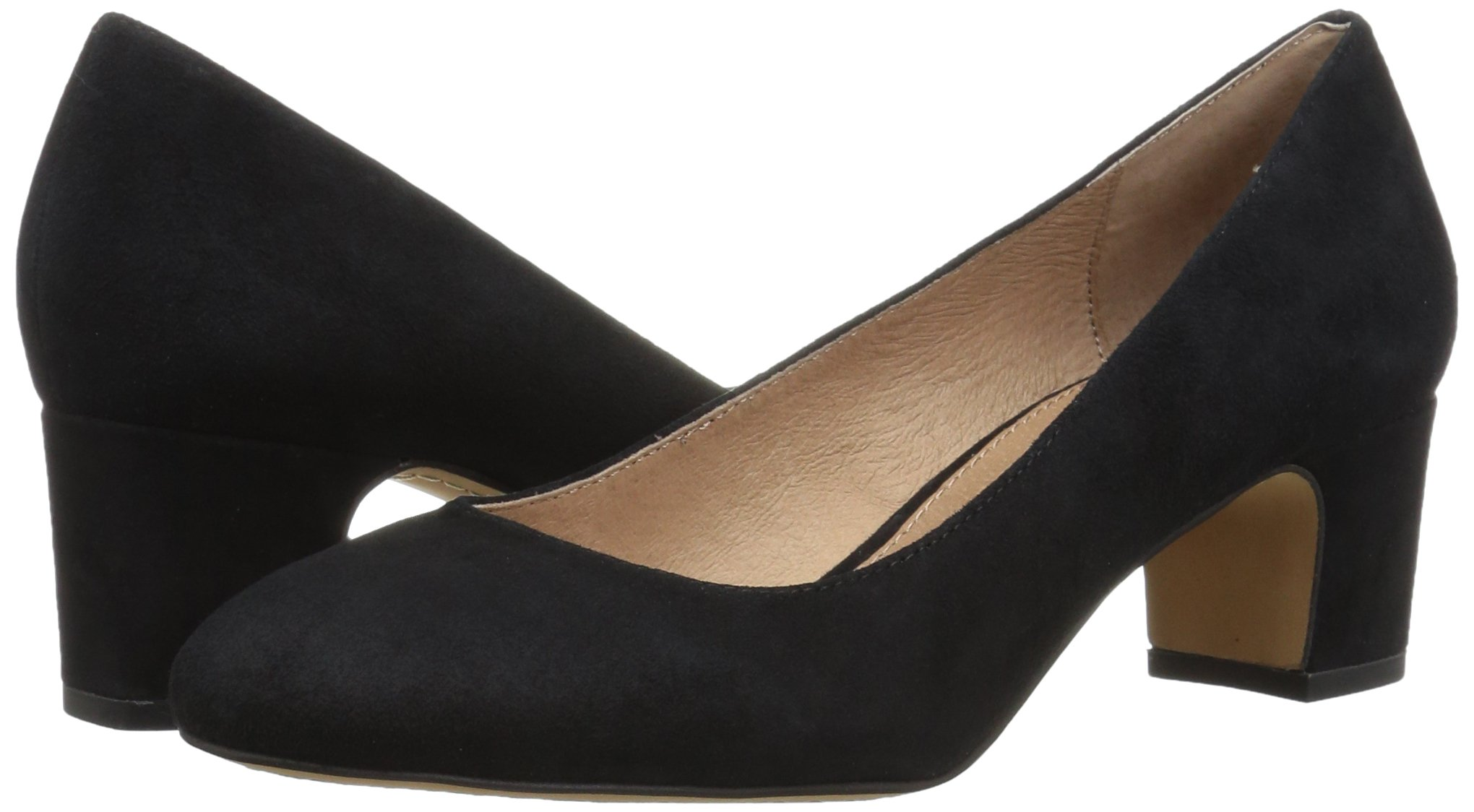 206 Collective Women's Merritt Round Toe Block Heel Low Pump, Black Suede, 7.5 B US by 206 Collective (Image #5)