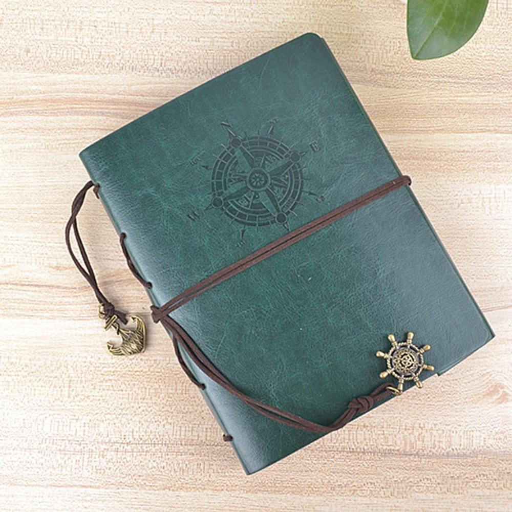 Longpro Creative DIY Loose-leaf Photo Album Leatherette Binded Album Series Anniversary Scrapbook (Voyage, Atrovirens)