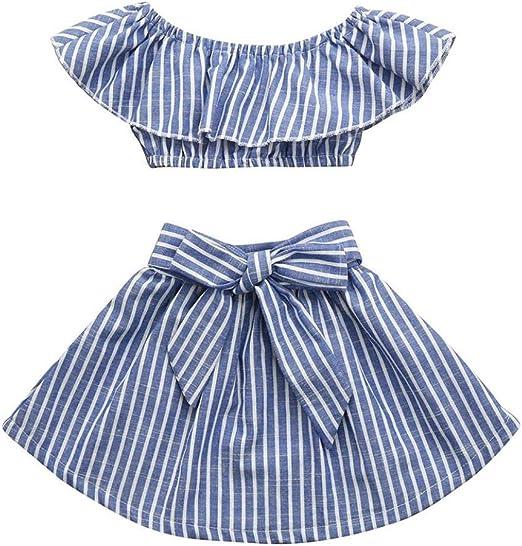 Cute Baby Girl Summer Fashion Plaid Off-shoulder Short Sleeve Princess Dress