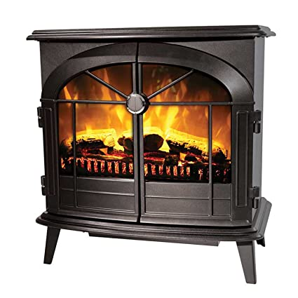 Amazing Dimplex Leckford 2Kw Electric Flame Effect Stove In Matt Black With Remote Control Home Interior And Landscaping Mentranervesignezvosmurscom