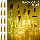 Amazon Price History for:Wine Bottle Lights with Cork, SEEOU 10 Pack Battery Operated Cork Shape Sliver Copper Wire Fairy String for DIY, Party, Décor, Christmas, Halloween, Wedding (3.3ft/1m 20 LED Warm White)