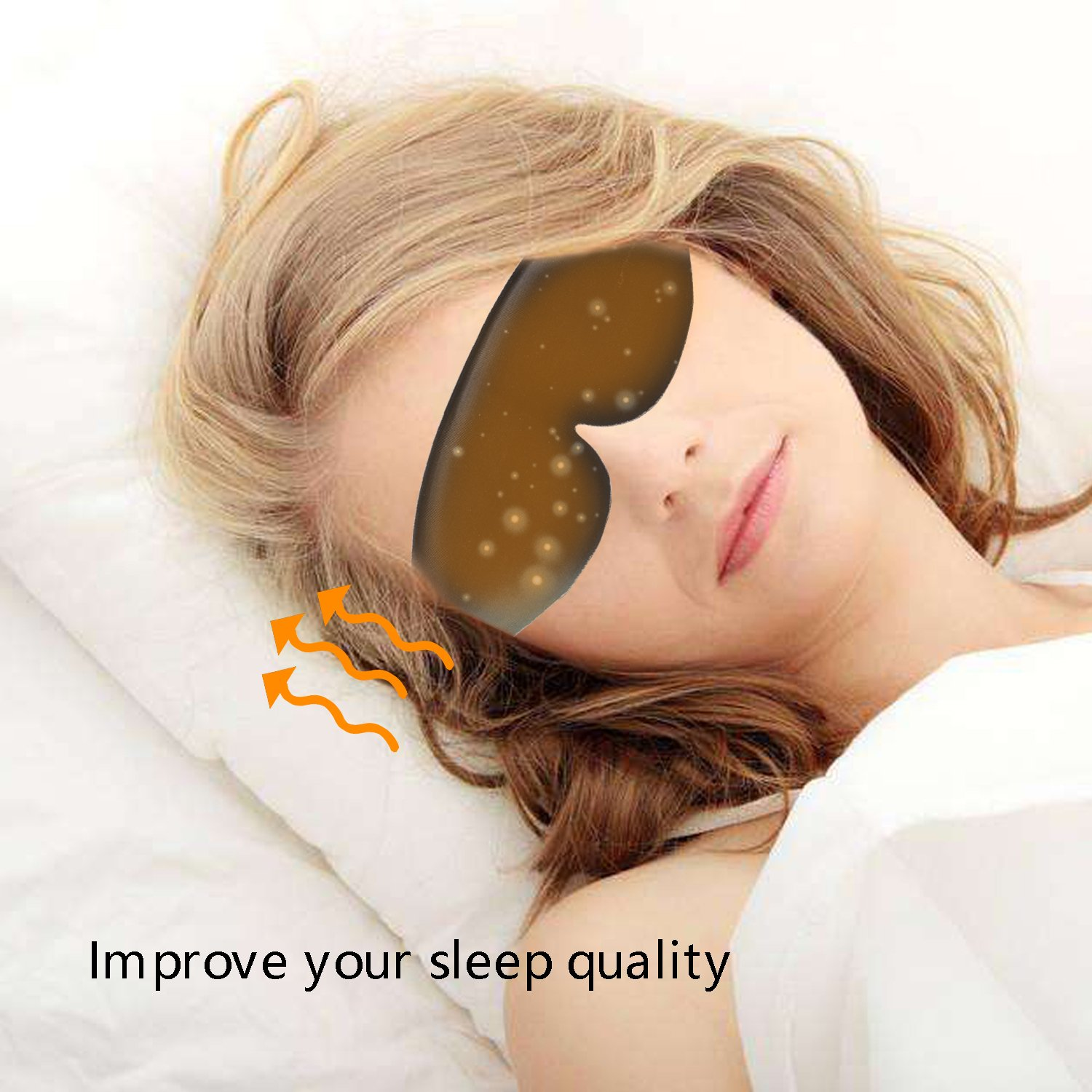 DTNO.I Graphene Eyes Mask Far-infrared Therapy Adjustable Temperature Sleeping USB Heated Eye Massage Mask by DTNO.I (Image #6)
