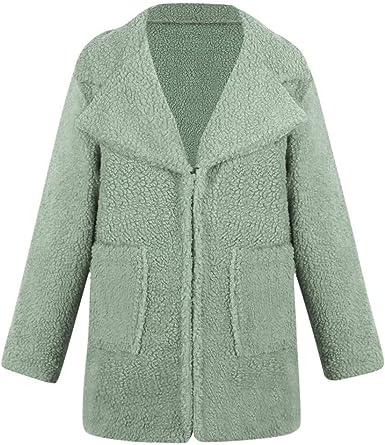 Womens Fashion Long Sleeve Lapel Zip Up Faux Shearling Shaggy Oversized Coat Jacket Pockets Warm Winter