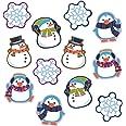Carson Dellosa Winter Cutouts—Penguin, Snowmen, Snowflake Decorations for Seasonal Bulletin Board Displays, Holiday Homeschoo