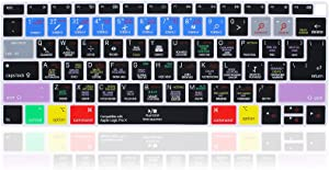 MMDW English Silicone Logic pro X Shortcuts Hotkey Keyboard Cover Skin for MacBook Air 13 with Retina Display and Touch ID 2020 2019 2018 Model A1932 Keyboard Protector Skin (US and EU Versions)