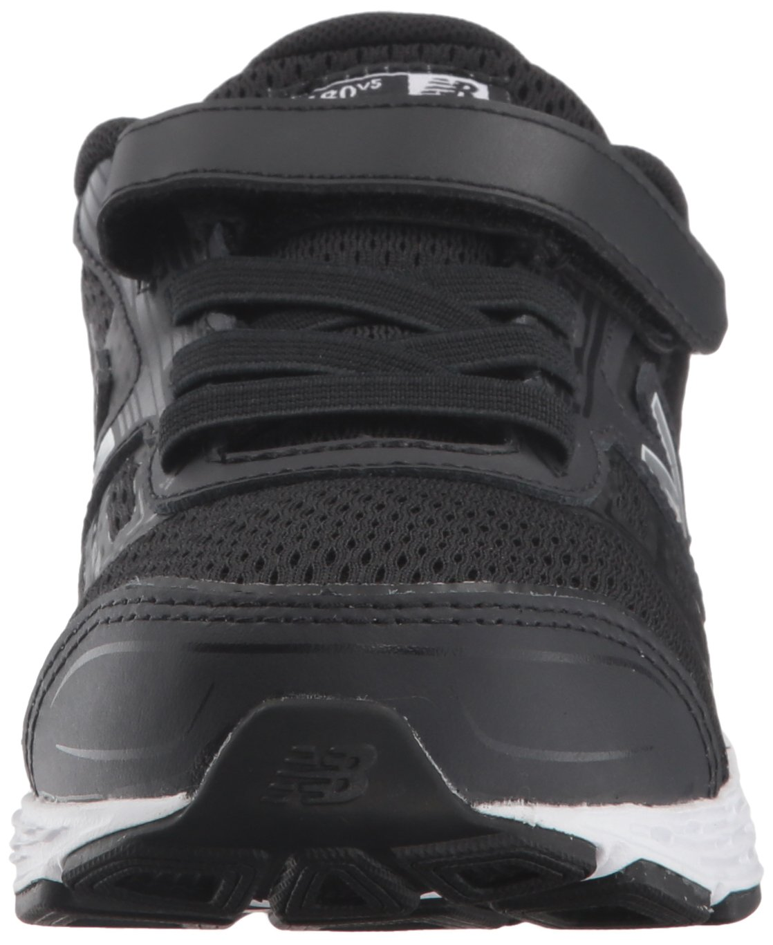 New Balance Boys' 680v5 Hook and Loop Running Shoe, Black/White, 9 M US Toddler by New Balance (Image #4)