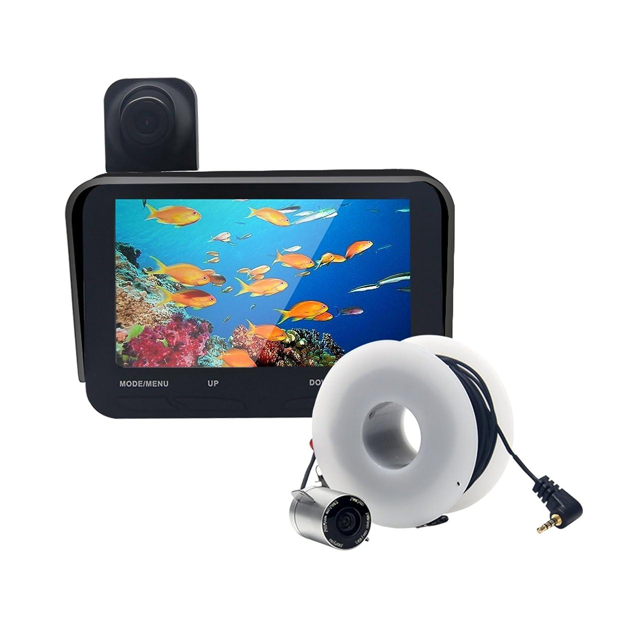 音声コード過言Luckylaker 防水 魚群探知機 ポータブル 魚探 ぎょたん探知機 ワカサギ釣り 魚探 バス 釣り