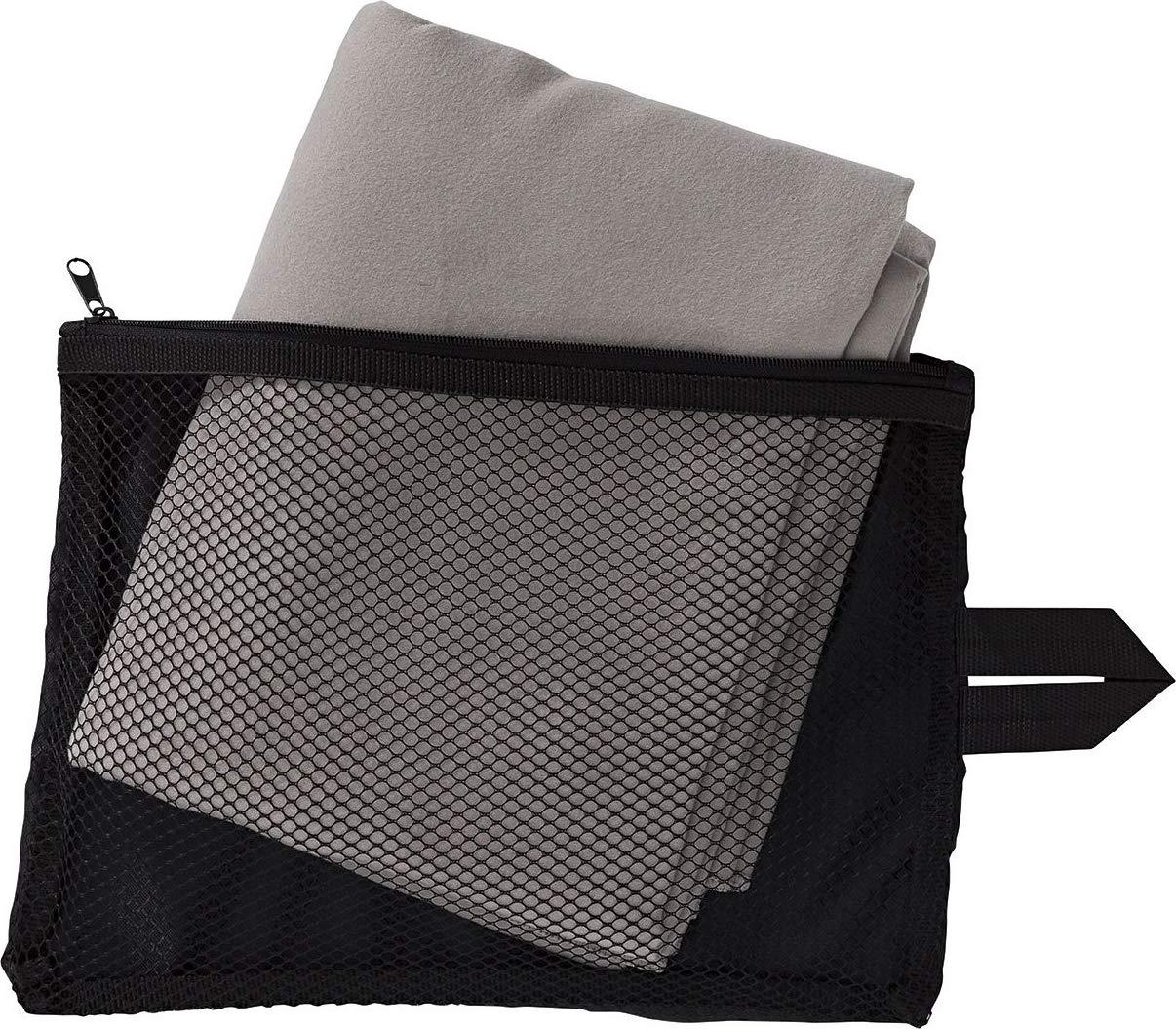 ca Aufbewahrungstasche mit Rei/ßverschluss 80 x 130 cm Crivit/® Sporthandtuch aus Mikrofaser
