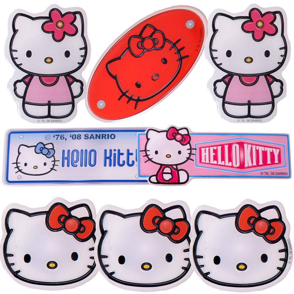 Hello Kitty - 3D Effekt Aufkleber Sticker Set