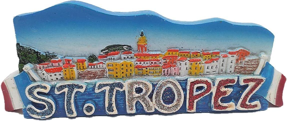 3D St.Tropez Riviera France Fridge Magnet Travel Souvenir Gift Home & Kitchen Decor Magnetic Sticker St.Tropez Riviera Refrigerator Magnet Collection