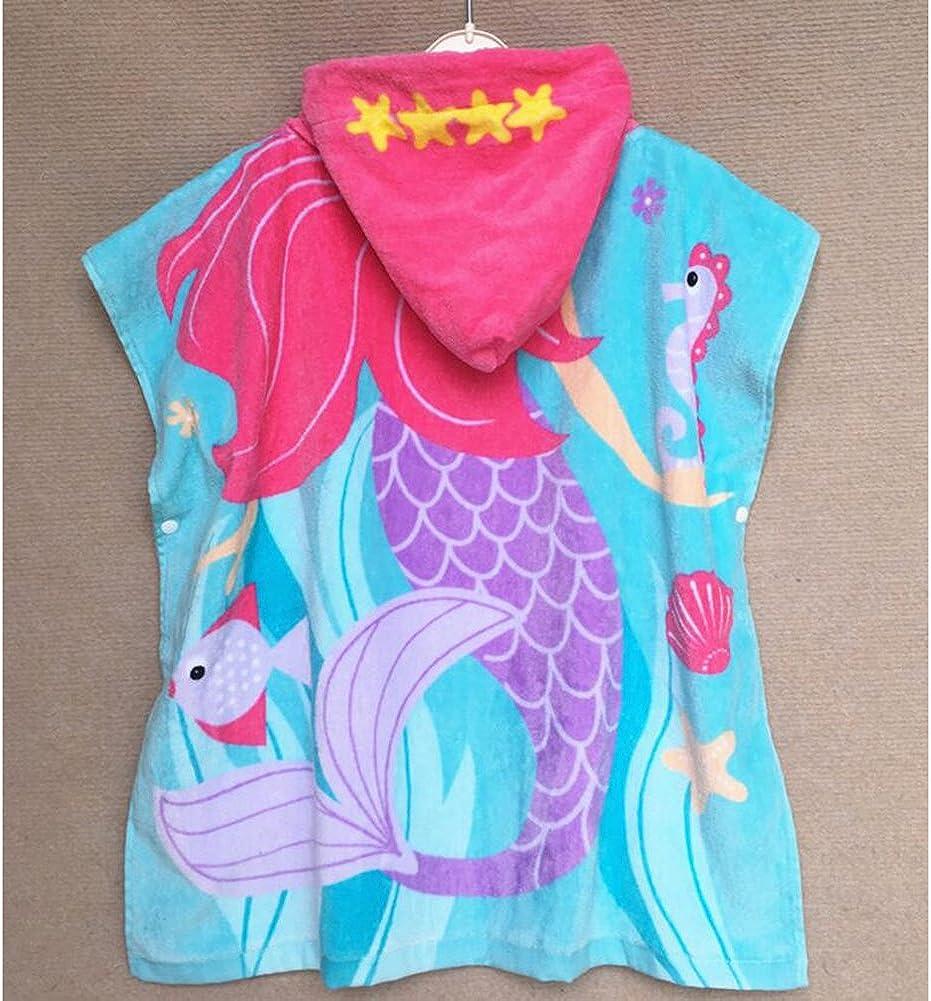 Jungen M/ädchen Kapuzenhandtuch Baumwolle Bademantel Schwimmen Handtuch Strand Umhang 60 120CM mama stadt Kapuzen Badeponcho Kinder Baby