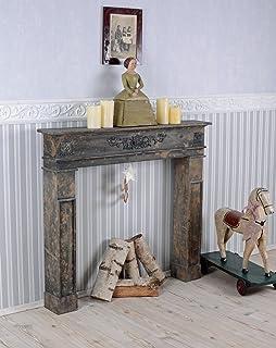 Kaminumrandung Shabby Chic Kaminkonsole Holzkamin Vintage Kamin Palazzo  Exklusiv