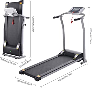 Folding Treadmill Electric Motorized Power Walking Jogging Running Exercise Fitness Machine Trainer