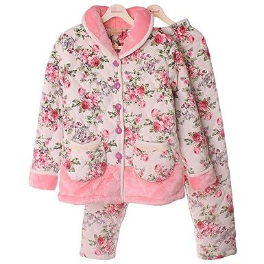 QPALZM Pijama De Algodón De Las Mujeres Engrosamiento Madres ...
