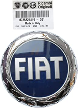 Genuine Fiat Ducato Red Adhesive Rear Door Badge 2009 Onwards